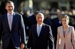 Rei Felipe VI e rainha Letizia já viram exposição de Miró