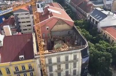 Derrocada em prédio de Lisboa