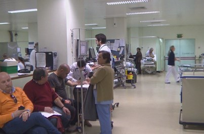 Frio provoca caos nos hospitais