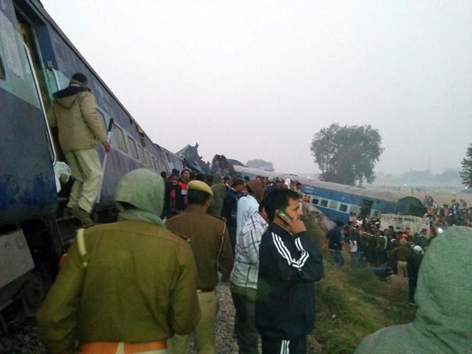 Acidente de trem na Índia deixa mortos e feridos