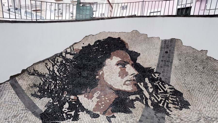Amália Rodrigues, by Vhils