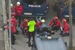 Um detido e dez adeptos feridos no dérbi