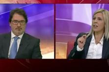 Elina Fraga e Guilherme Figueiredo em debate na CMTV