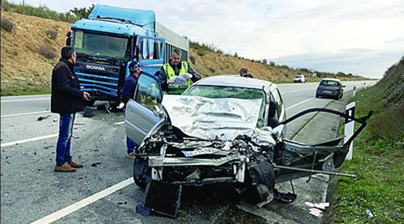 Vítima de choque com camião