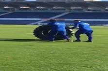 Jogadores do Belenenses oferecem pneu a Quim Machado
