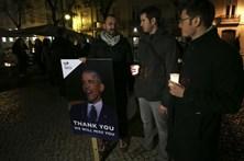 Vigília de tributo a Obama junta em Lisboa dezenas de norte-americanos
