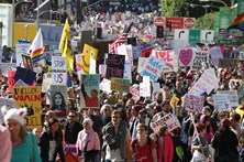 Mais de meio milhão na 'Marcha das Mulheres' de Los Angeles
