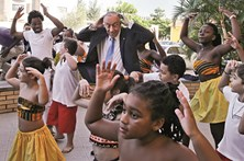 """Marcelo celebra """"ano irrepetível"""" em Belém"""