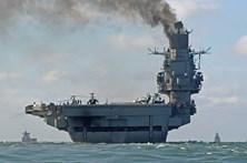 Marinha vigia poderosa esquadra naval russa