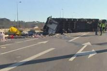 Despiste de camião corta A25 em Celorico da Beira