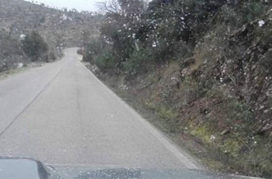 Vaga de frio origina queda de neve no Algarve