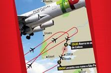 Veja o percurso da aeronave que aterrou de emergência