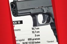 Conheça o modelo de pistola roubado na PSP