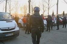 Confrontos no exterior do estádio de Braga