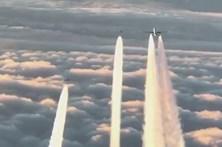 Boeing sem rádio obriga a intervenção de caças alemães. E um piloto filmou tudo