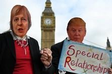 Britânicos protestam contra visita de Donald Trump ao Reino Unido