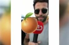 Super Dragão devolve microfone da CMTV roubado