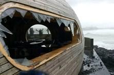 Ondas de 13 metros nos Açores destruíram bar premiado