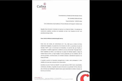Leia a carta enviada pelo CM e pela CMTV à Ministra da Administração Interna