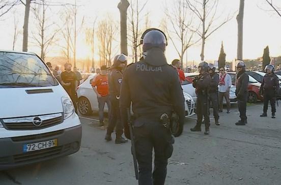 PSP diz que segurança do Braga-Benfica foi garantida