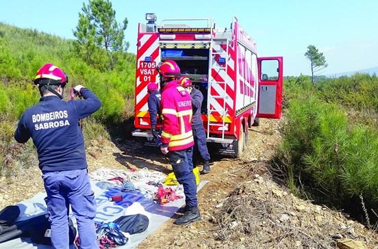 Bombeiros salvam dois cães de poço