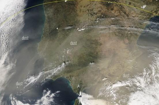 Portugal afetado por poeira do deserto Saara