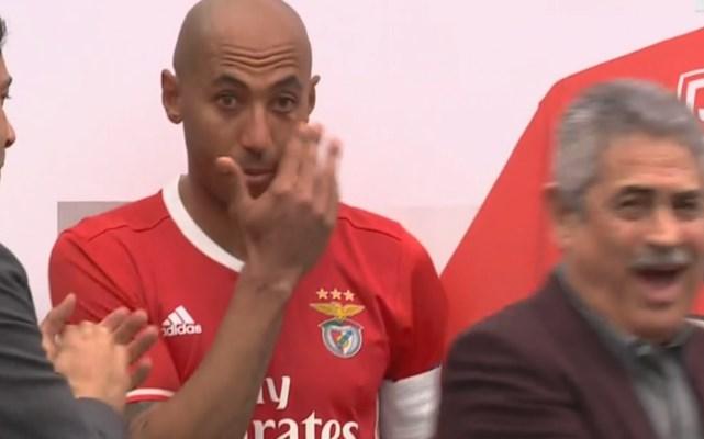 Luisão chora ao festejar jogo 500 pelo Benfica
