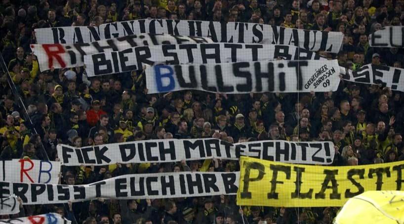 Dortmund identifica 61 suspeitos de desacatos no jogo com Leipzig