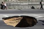 Autarquia diz que buraco na Av. Ceuta não está relacionado com caneiro de Alcântara