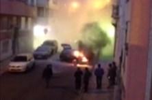 Carro arde em Campolide