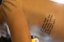 Pele humana tatuada em exposição em Lisboa