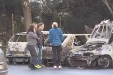 Povo apaga fogo posto em carros em Torres Novas