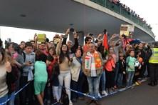 Seleção nacional recebida em euforia na Madeira