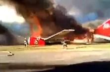 Avião com 141 passageiros incendia-se no Peru