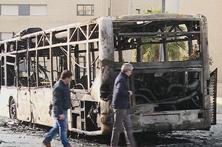 Autocarro incendeia-se em Rio Tinto