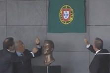 Marcelo e Costa destapam placa com o nome 'Aeroporto Cristiano Ronaldo'