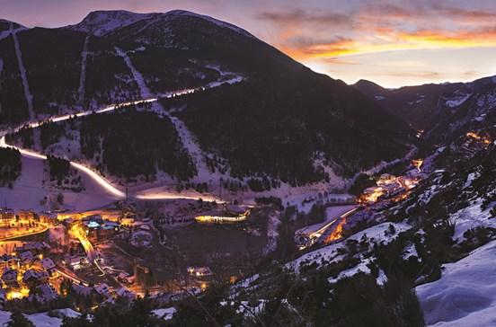 Deslizar pelas montanhas de Andorra