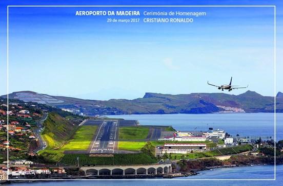 Aeroporto Cristiano Ronaldo assinalado com postais dos CTT