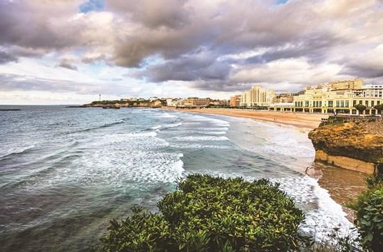 O mar de contrastes de Biarritz