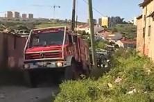 Incêndio com perigo de explosão em Lisboa