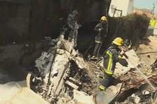 Veja como ficou o avião que se despenhou em Tires
