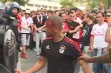 Polícia agride adepto do Benfica na Luz
