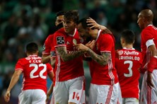 As imagens do Sporting - Benfica