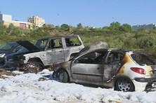 Sete viaturas destruídas por incêndio em Paranhos