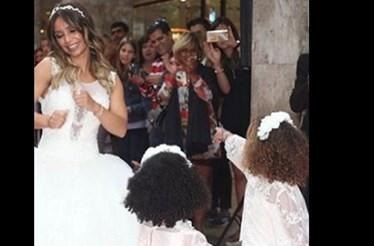 Luciana Abreu voltou a vestir-se de noiva