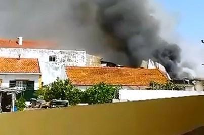 As primeiras imagens da queda de avião e Tires