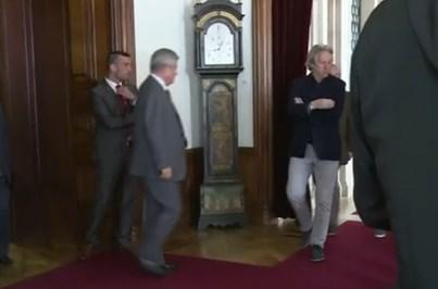 Luís Filipe Vieira e Jorge Jesus encontraram-se ocasionalmente num hotel em Lisboa