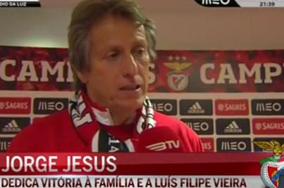 Jesus dedica vitória à família e a Luís Filipe Vieira