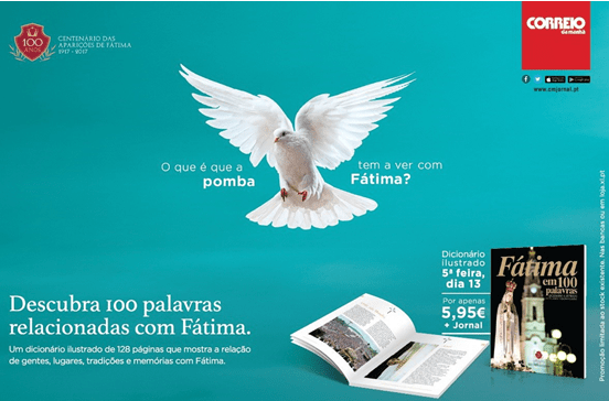 """Livro """"Fátima em 100 Palavras."""""""