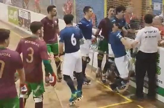 Selecionador português de hóquei agride jogador adversário